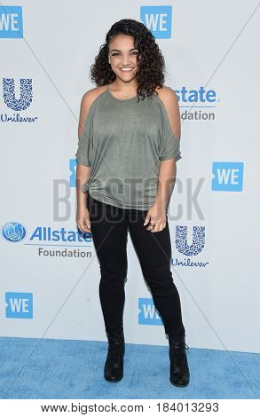 LOS ANGELES - APR 18:  Laurie Hernandez arrives for the WE Day California 2017 on April 27, 2017 in Inglewood, CA