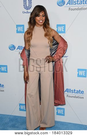 LOS ANGELES - APR 18:  Laverne Cox arrives for the WE Day California 2017 on April 27, 2017 in Inglewood, CA