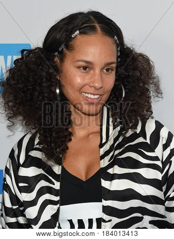 LOS ANGELES - APR 18:  Alicia Keys arrives for the WE Day California 2017 on April 27, 2017 in Inglewood, CA