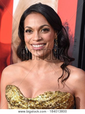 LOS ANGELES - APR 18:  Rosario Dawson arrives for the