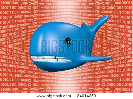 Not to blue whale challenge, 3D rendering