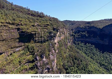 grose valley of blue mountains national park near govetts leap new south wales australia