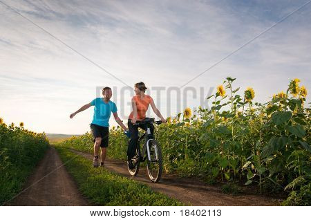 relax biking outdoors