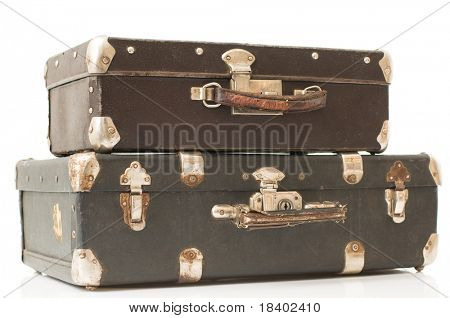 two suitcase isolated