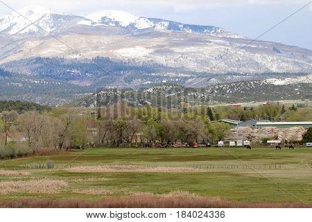 Spring over the mountains in Durango, CO