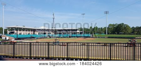 Coastal Carolina Baseball Stadium being resurfaced, September 8th, 2016