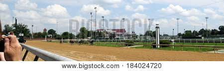Churchill Downs horse race, Louisville, Kentucky, May 27th, 2016