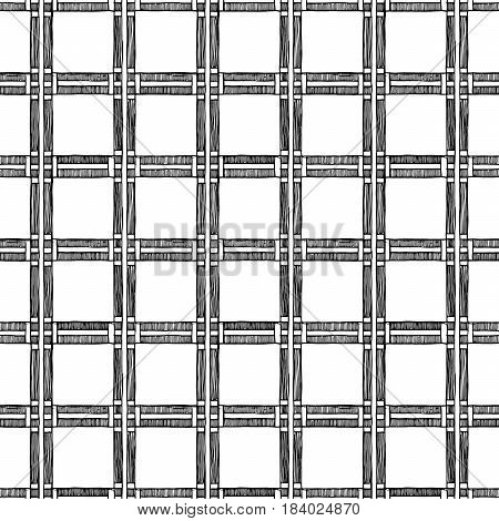 Square. The seamless vintage geometric pattern of squares.