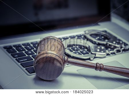 Cyber hack legal law concept image