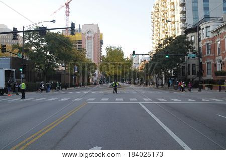 LaSalle Boulevard cleared for Chicago Marathon, October 9th, 2016