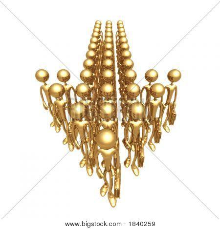 Golden Business Team Arrow