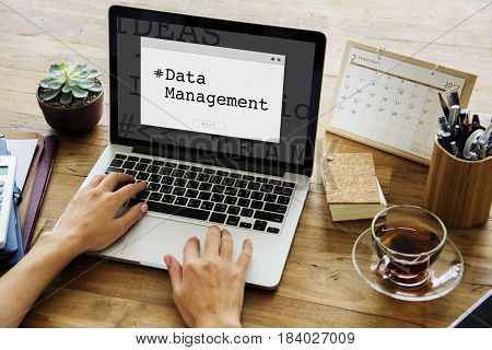 Computer Screen Data Management Word Window Popup