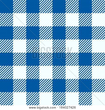 illustration of blue squares lumber textile seamless background