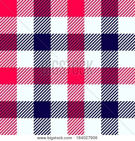 illustration of red and black squares lumber textile seamless background
