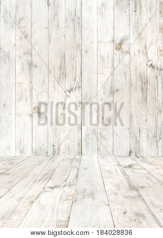 White wood plank room and background. modern rustic and vintage style.