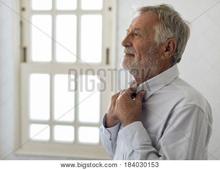Senior Man Dress Up Daily Lifestyle