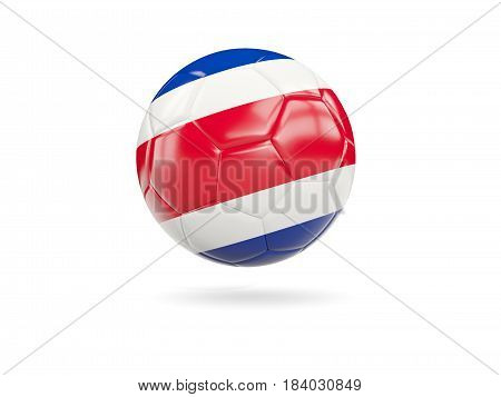 Football With Flag Of Costa Rica