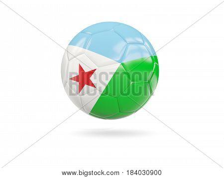 Football With Flag Of Djibouti