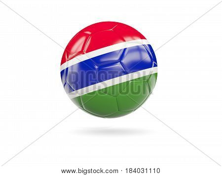 Football With Flag Of Gambia
