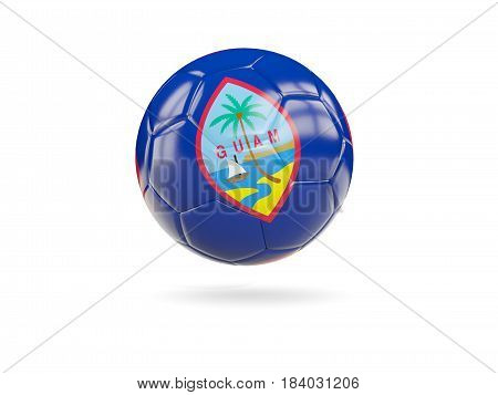 Football With Flag Of Guam