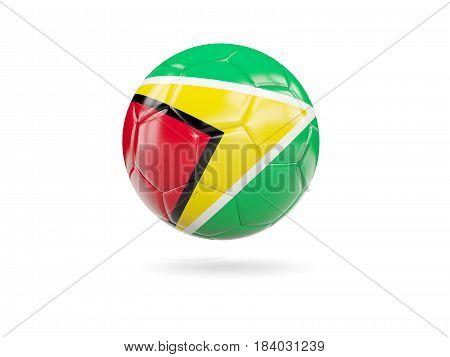 Football With Flag Of Guyana