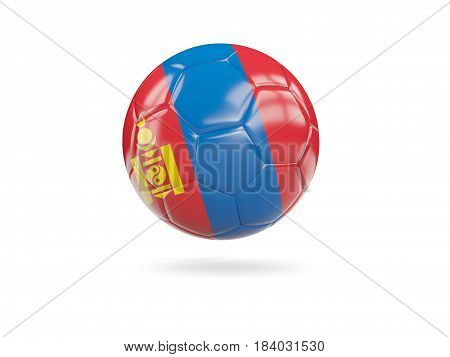 Football With Flag Of Mongolia