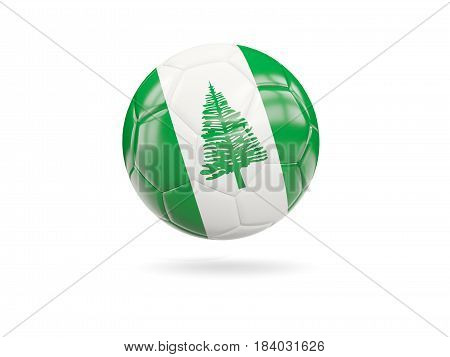 Football With Flag Of Norfolk Island