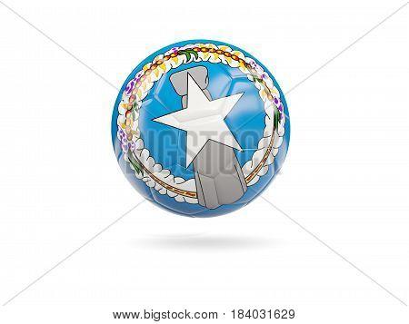Football With Flag Of Northern Mariana Islands