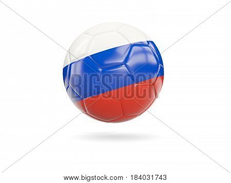 Football With Flag Of Russia