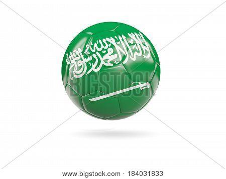Football With Flag Of Saudi Arabia