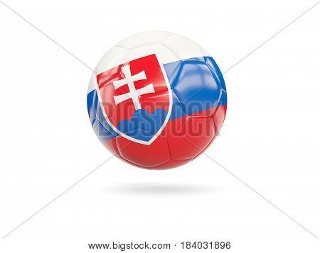 Football With Flag Of Slovakia