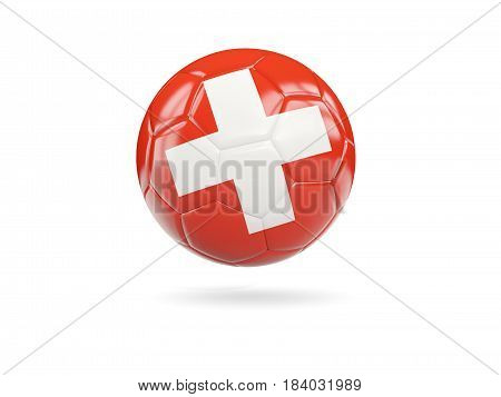 Football With Flag Of Switzerland