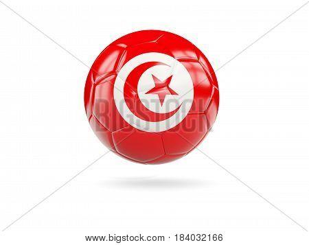 Football With Flag Of Tunisia