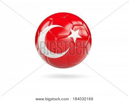 Football With Flag Of Turkey