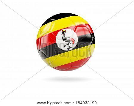 Football With Flag Of Uganda