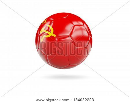 Football With Flag Of Ussr