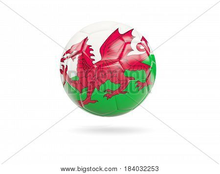 Football With Flag Of Wales
