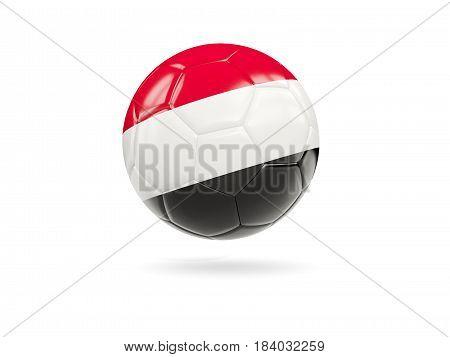 Football With Flag Of Yemen