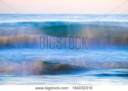 blue ocean waves breaking natural outdoor background