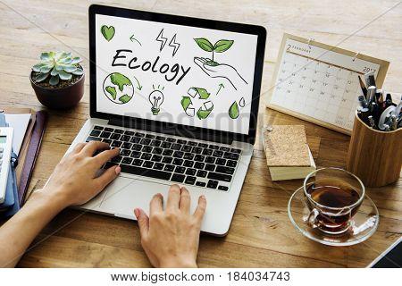 Ecology Green Energy Planet Diagram Word
