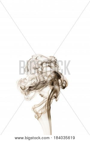 wavy black smoke on a white background
