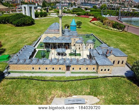 Miniaturk, Istanbul. A Scale Model Of Mevlana Museum, Located In Konya, Turkey