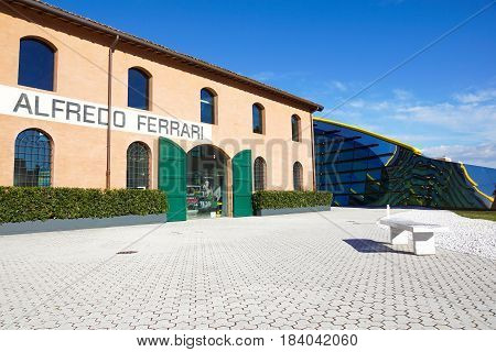 MODENA, ITALY - SEPTEMBER 9: Museum Casa Enzo Ferrari on September 9, 2016 in Modena. Museum was opened in March 2012.