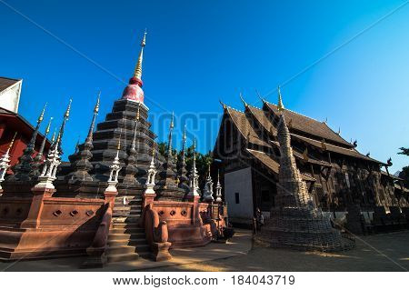 The Wat Phan Tao is one of the older temples of Chiang Mai