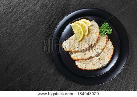 Gefilte Minced Carp Fillets Cut In Slices