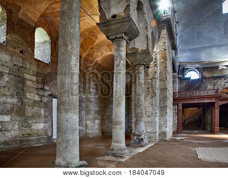 The Gallery Of Columns In The Interior Of Hagia Irene (saint Irene), Istanbul