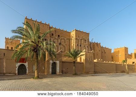 View at the Taourirt Kasbah in Ouarzazate of Morocco