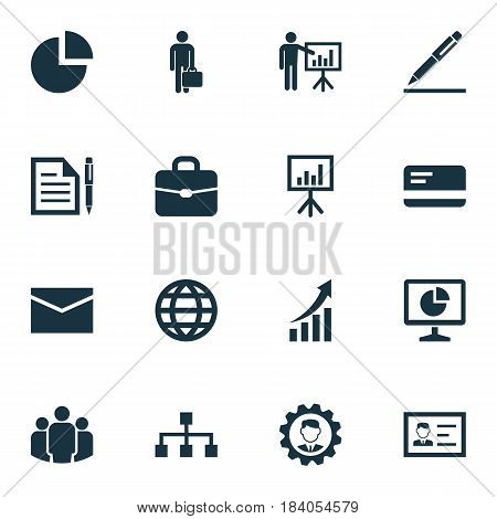 Business Icons Set. Collection Of Leader, Contract, Group And Other Elements. Also Includes Symbols Such As Man, Businessman, Payment.
