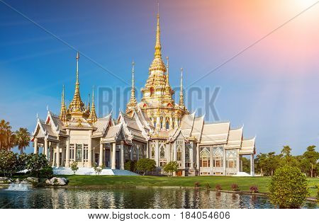 Landmark wat thai Temple at Wat None Kum in Nakhon Ratchasima province Thailand