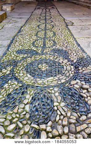The Pebble Path In Harem Of Topkapi Palace, Istanbul